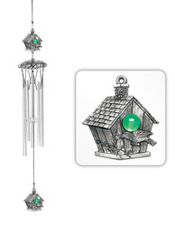 "Bird House 24"" Wind Chime"