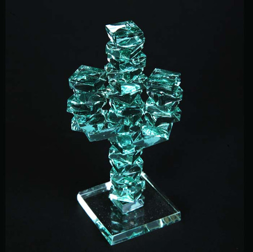 Stacked Glass Cactus 4 Quot W Glass Base Arizona Gifts