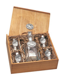 Wildlife Pewter Decanter & Tumbler Set