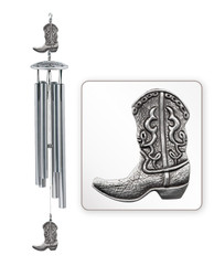 "Cowboy Boot 30"" Hollow Wind Chime"
