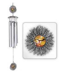 "Sunflower 30"" Hollow Wind Chime"