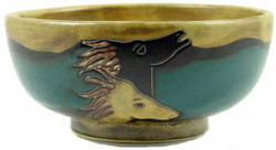 Mara Serving Bowl 72oz - Horses