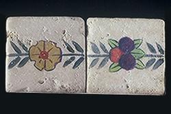 """Flower and Fruit 2""""x2"""" Border Tile"""
