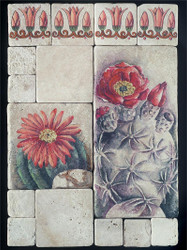 Cactus Stone Tile Display
