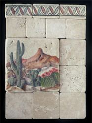 Southwest Stone Tile Display