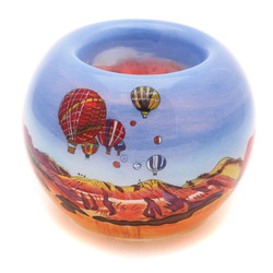 "Balloons with New Mexico Text - 3"" Votive Set of 2"