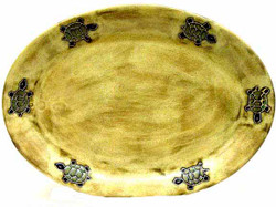 "Mara Oval Serving Platter 13"" - Desert Turtle"