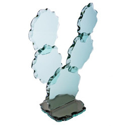 Prickly Pear Cactus - Chiseled Edge Glass