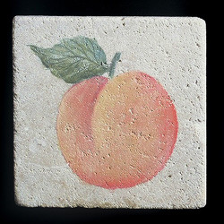 "Rustic Peach 4""x4"" Deco Tile"