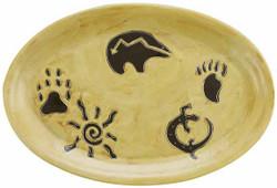 "Mara Oval Serving Platter 16"" - Southwest"