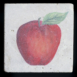 "Rustic Apple 4""x4"" Deco Tile"