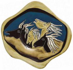 """Mara Dinner Plate 12"""" - Horses"""