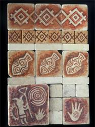 Petroglyph Stone Tile Display