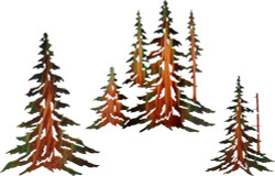 "14"",16"" and 18"" Pine Tree Set (3 pc set)"