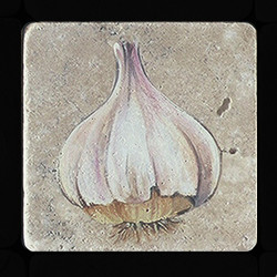 "Garlic 4""x4"" Deco Tile"