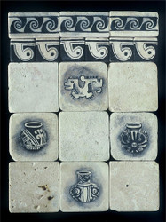 Panama Black & White Stone Tile Display
