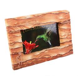 Sandstone Picture Frame w/Copper Kokopelli - Landscape