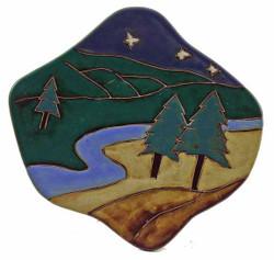 """Mara Dinner Plate 12"""" - Trees"""