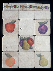 Mixed Fruit Stone Tile Display