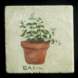 "Basil 4""x4"" Deco Tile"