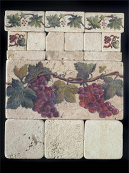 Grape Cluster #1 Stone Tile Display