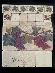 Grape Cluster #1 Stone Tile Display