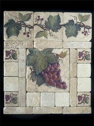 Grape Cluster #2 Stone Tile Display
