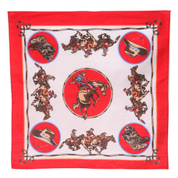 Large Bandana - Red Bronco