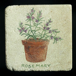 "Rosemary 4""x4"" Deco Tile"
