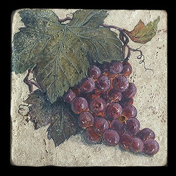 "Grape Cluster 6""x6"" Deco Tile"