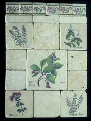 Herb Collage Stone Tile Display