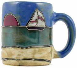 Mara Mug 9oz - Sail Boat