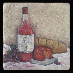 "Old World Wine 8""x8"" Deco Tile"