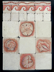 Sea Shells Stone Tile Display