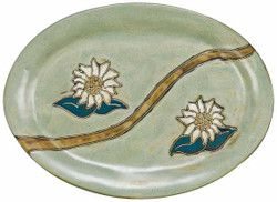 "Mara Oval Serving Platter 13"" - Sunflower"