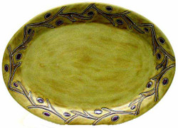 "Mara Oval Serving Platter 13"" - Grape Vines"