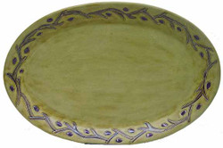 "Mara Oval Serving Platter 16"" - Grape Vines"