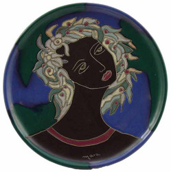 "Mara Platter 12"" - Woman's Face"
