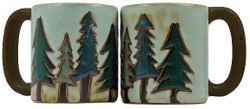 Mara Mug 16oz - Pine Trees
