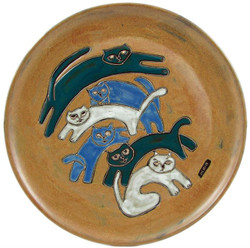 "Mara Platter 12"" - Kitties"