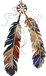 """Feathers - 18"""""""