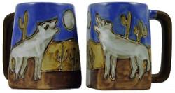 Mara Square Mug 12oz - Howling Wolves