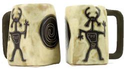 Mara Square Mug 12oz - Dream Spirit - Petroglyphs