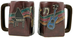 Mara Square Mug 12oz - Musical Instruments