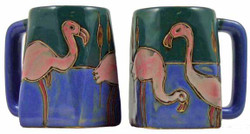 Mara Square Mug 12oz - Flamingo