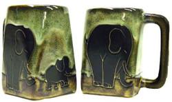 Mara Square Mug 12oz - Elephants