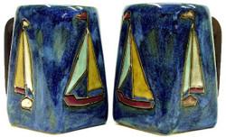 Mara Square Mug 12oz - Sail Boats