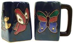 Mara Square Mug 12oz - Butterflies