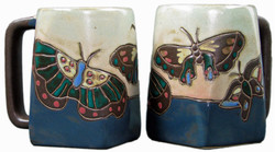 Mara Square Mug 12oz - Butterflies Blue