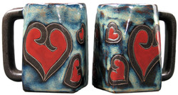 Mara Square Mug 12oz - Hearts